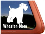Wheaten Mom Wheaten Terrier Dog Car Truck RV Window Decal Sticker