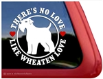 Love Wheaten Terrier Dog Car Truck RV Window Decal Sticker