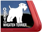 Obey the Wheaten Terrier Dog Car Truck RV Window Decal Sticker
