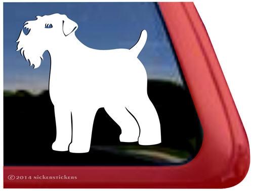 High Quality Vinyl Wheaten Terrier Window Decal Sticker Wheaten Wagon