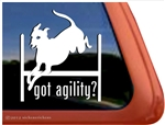 Italian Greyhound Agility Dog Window Decal