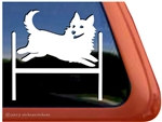 Swedish Vallhund Agility Dog Window Decal