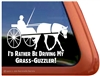Horse Driving Horse Trailer Window Decal