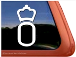 Oldenburg Horse Trailer Window Decal