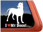 Dogo Argentino Love Dog Car Truck RV Window Decal Sticker