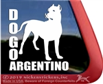 Dogo Argentino Dog Car Truck RV Window Decal Sticker