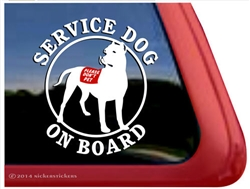 Service Dog Dogo Argentino Car Truck RV Window Decal Sticker