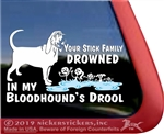 Bloodhound Drool Car Truck RV Window Decal Sticker