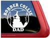 Border Collie Window Decal