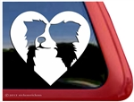Custom Border Collie Dog Heart Love Car Truck RV Window Decal Sticker