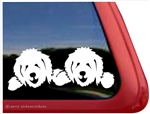 Two Goldendoodles Labradoodles Dog Vinyl Window Car Truck RV Trailer Decal Sticker