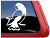 Custom Eclectus Parrot Bird Car Truck RV Window Decal Sticker