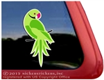 Custom Ringneck Parrot Bird Car Truck RV Window Decal Sticker