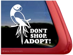 Ringneck Parrot Window Decal