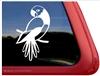 Custom Masked Parrot Bird Car Truck RV Window Decal Sticker