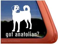 Anatolian Shepherd Window Decal
