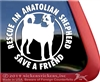 Anatolian Shepherd Guard Dog Window Decal