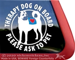 Anatolian Shepherd Therapy Dog Car Truck RV Window Decal Sticker