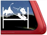 Fox Terrier Agility Window Decal