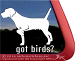 German Wirehair Pointer Gun Dog Window Decal Sticker