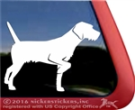 German Wirehair Pointer Gun Dog Window Decal
