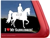 Saddlebred Horse Trailer Window Decal