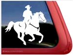 Galloping Rider Horse Trailer Window Decal
