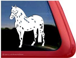 Custom POA Pony of the Americas Horse Trailer Car Truck RV Window Decal Sticker