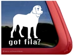 Fila Brasilerio Window Decal