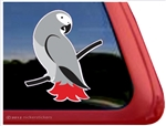 Custom African Grey Parrot Bird Car Truck RV Window Decal Sticker
