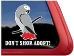 African Grey Window Decal