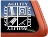 Agility Dog Window Decal