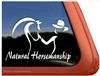 Horse & Trainer Trailer Window Decal