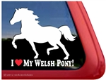 Welsh Pony Horse Trailer Window Decal