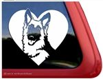 German Shepherd Dog Heart Love Car Truck RV Window Decal Sticker