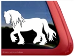 Feathered Horse Trailer  Window Decal