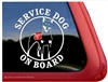Service Dog on Board Min Pin Miniature Pinscher Dog Car Truck RV Window Decal Sticker