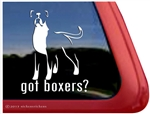 Long Tail Boxer Dog Decal Sticker Car Auto Window iPad