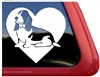 Custom Basset Hound Love Dog Car Truck RV Window Decal Sticker