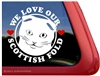 Scottish Fold Window Decal