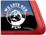 Pug Window Decal