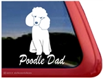 Toy Poodle Dad Dog iPad Car Truck Window Decal Sticker