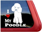 I Love My Toy Poodle Dog iPad Car Truck RV Window Decal Sticker