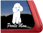 Toy Poodle Mom Dog iPad Car Truck Window Decal Sticker