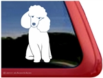 Custom Toy Poodle Dog iPad Car Truck Window Decal Sticker