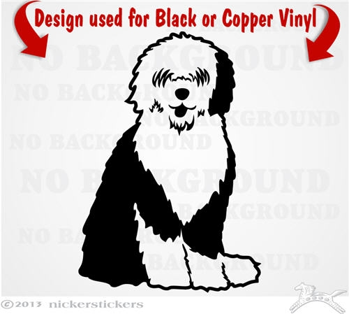 Old English Sheepdogr Decals & Stickers ~ NickerStickers