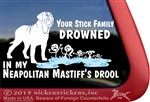 Neapolitan English Mastiff Dog Car Truck RV iPad Window Decal Sticker
