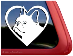 French Bulldog Frenchie Love Car Truck RV Window Decal Sticker