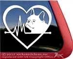 French Bulldog Heart beat love Vinyl dog car truck rv ipad laptop tablet Window Decal