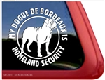 Dogue de Bordeaux Window Decal